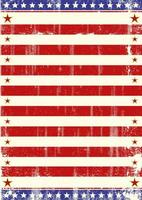 American Flag Theme Stars Poster vector