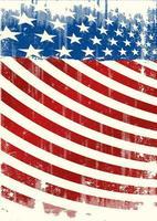 American Grunge Backround Leaflet vector