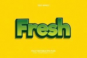 Editable Fresh text effect vector