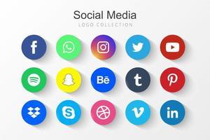 ícones de redes sociais vetor