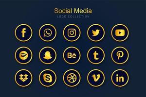 coleção de logotipo de mídia social vetor