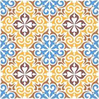 Decorative ornamental tile pattern vector