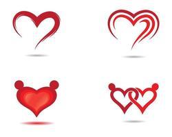 conjunto de iconos de amor vector