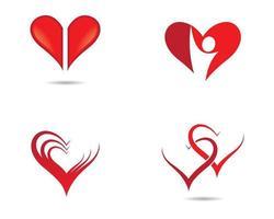 Diseño de ilustración de icono de vector de amor