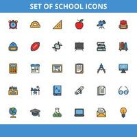 School icons pack vector