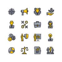 jeu d'icônes de l'entreprise vecteur