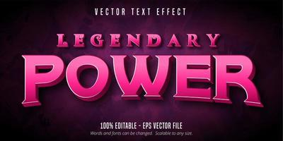 Legendary game style editable text effect vector