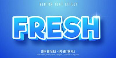 Blue editable text effect vector