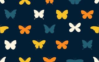 Pattern of colorful butterfly vector