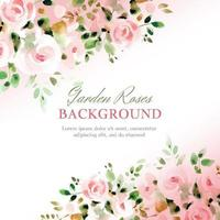 Soft Rustic Roses Background