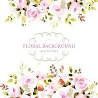 Pastel Floral Hand Drawn Background