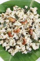Ven pongal es un desayuno común y popular en tamilnadu. foto