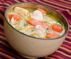 sopa de pollo - estilo caribeño foto