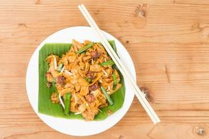 Simple Chinese Char Kway Teow or Fried Noodle photo