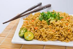 Pancit, a  noodle dish from the Philippines