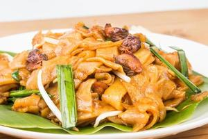 Close up on Chinese Char Kway Teow or Fried Noodle photo