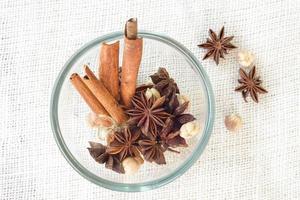 Star anise 'cinnamon sticks 'cardamon seeds