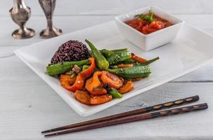 Vegetables with rise photo