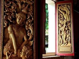Buddhist Wood Carvings - Vientiane, Laos.