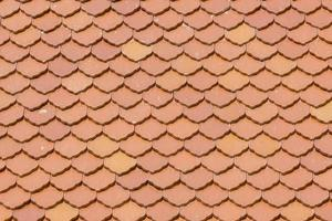 thai style fish scale roof tile photo