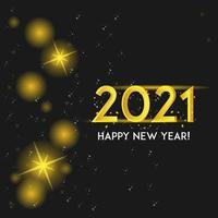 oro 2021 brilla en negro vector