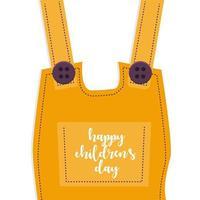 Happy Children's Day Overalls Background