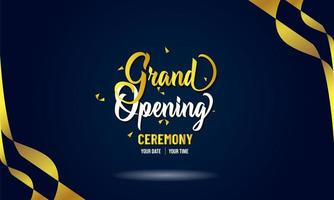 ''Grand Opening'' Navy Background Confetti Streamers