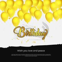 cartão feliz aniversário fundo vetor