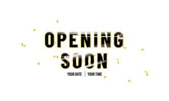''Opening Soon'' Reflective Background