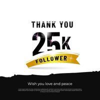 grazie seguaci 25k sfondo bianco