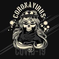 pandemia, corona, virus, niña, en, máscara