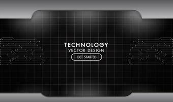 Metal black and grey technology network texture