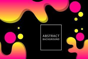 Abstract liquid fluid design on black vector