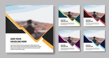 Colorful triangle accent ocial media templates