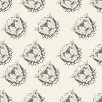 Bulldog with spiked collar seamless pattern