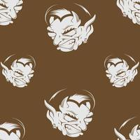 Demon head seamless pattern