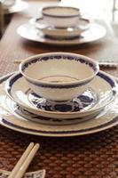 Chinese tableware, porcelain.