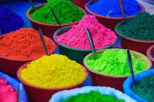 Colorful powder paints photo