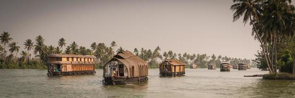 Traditional Inian house boat photo