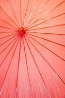 paraguas rojo de papel japonés