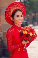 Charming Vietnamese bride photo