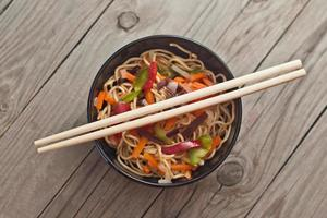China noodles with vegetables.