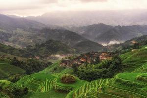 terraza de arroz longji foto