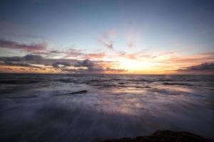 Slow shutter speed wave Bali