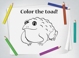 foglio da colorare per bambini rospo