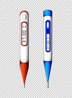 Digital thermometers set  vector
