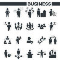 Business management and Office Organization Icon Set