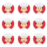 Male Chef Avatar With Various Expressions