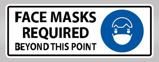 mascarillas requeridas más allá de este signo de punto