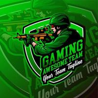 esport militaire gaming logo-badge